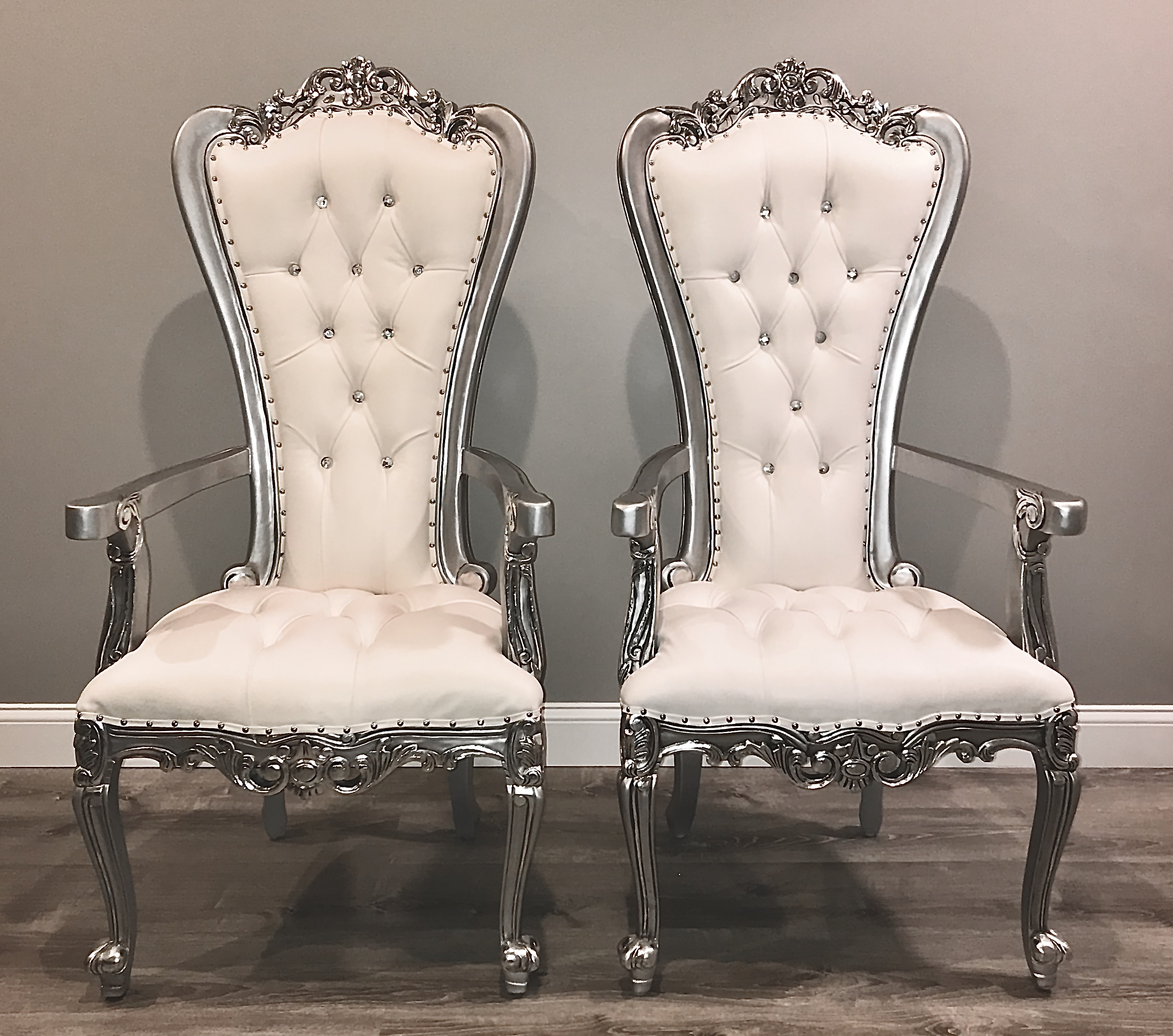 Small Silver Throne Chairs