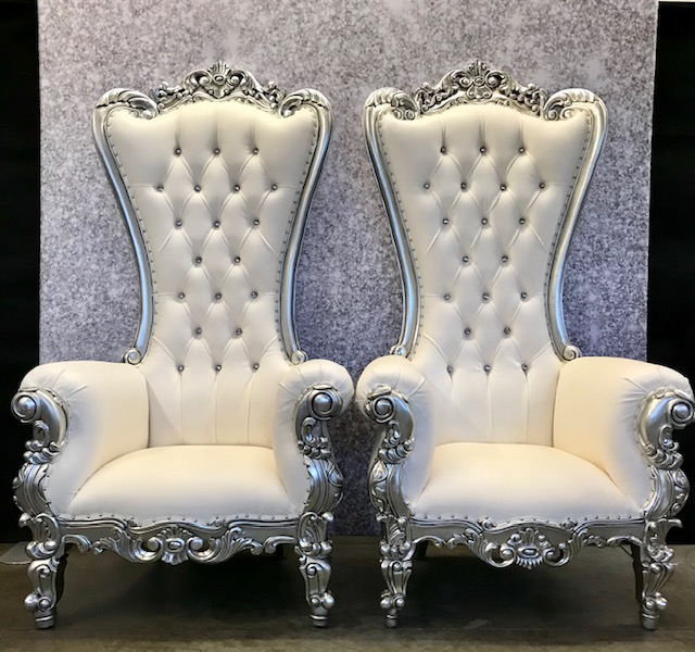 Silver Throne Chairs